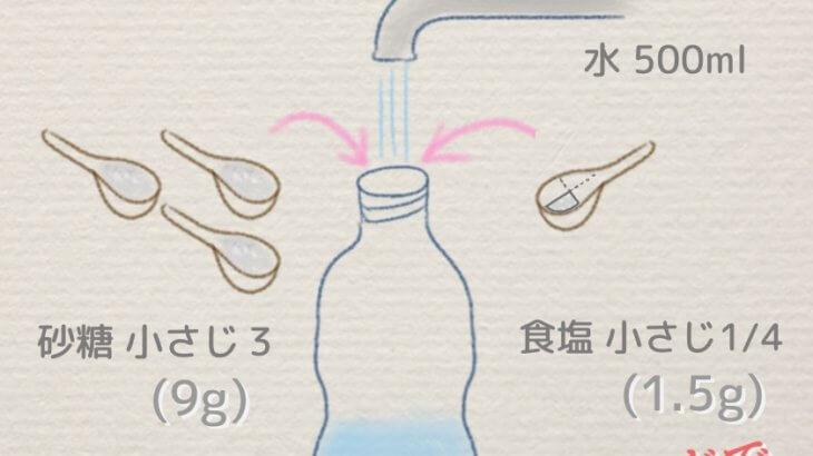 いざという時のために経口補水塩を持ち歩こう!作り方と注意点 | ユニセフ推奨の子供の熱中症対策