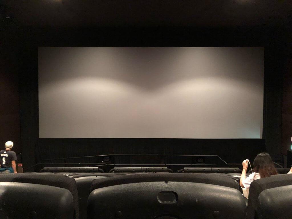 F8席から見たスクリーン