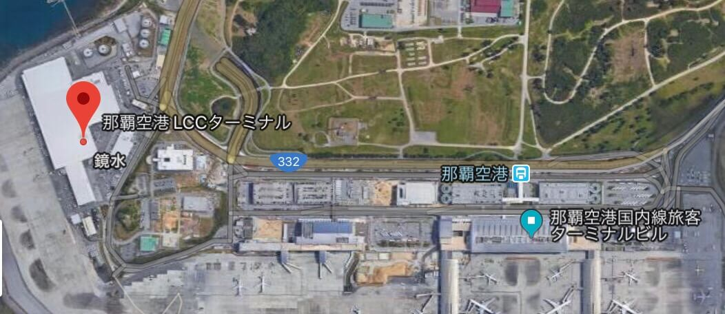 LCCターミナルは進入禁止区域内にあるため、シャトルバスでの移動が必要