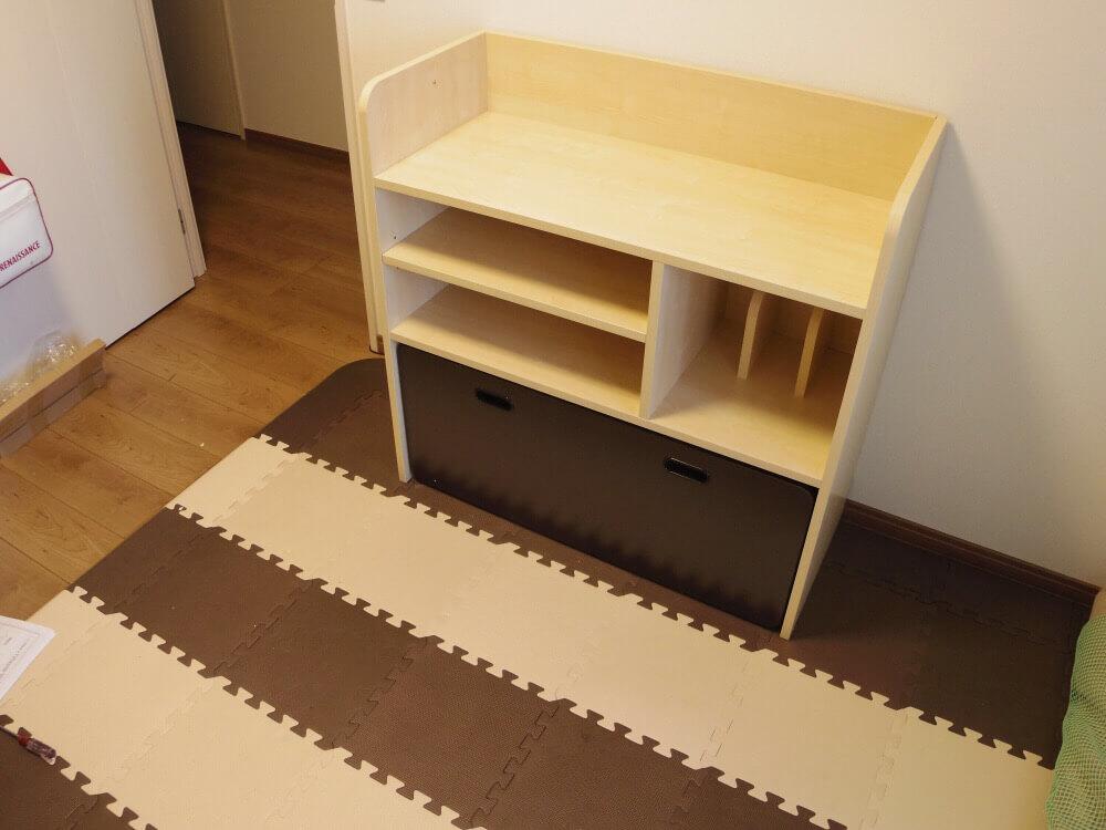 LOWYAで買った収納できるタイプの学習机、完成の様子