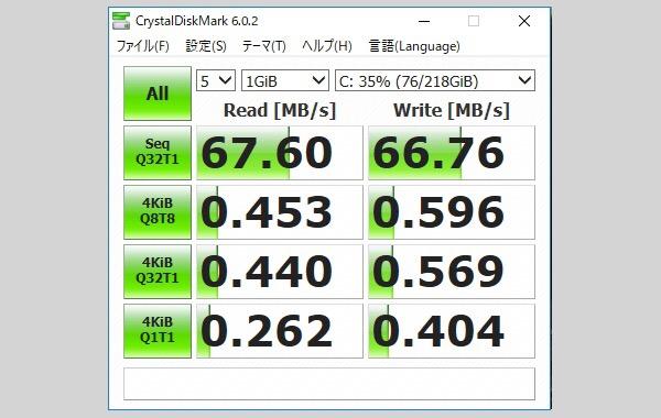 ストレージのベンチマークソフト「CrystalDiscMark」を使って10年前のノートパソコンのHDDをチェック