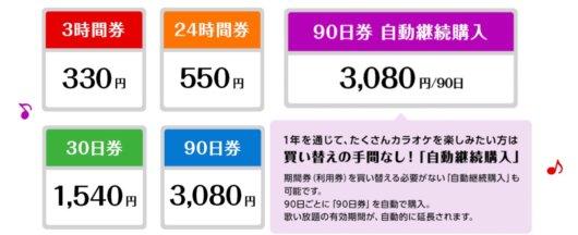 Switchカラオケの料金体系は安いけどWiiUと比較すると少し高い