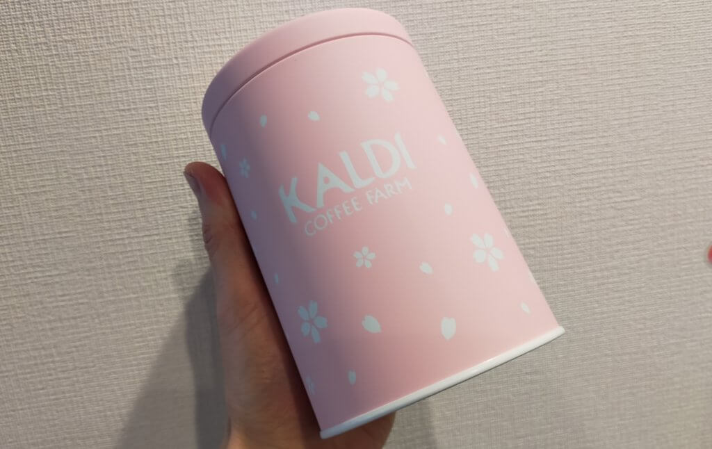 春のキャニスター缶桜ピンクの可愛いやつ!