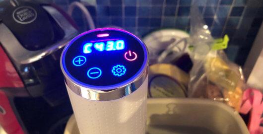 自作R-1ヨーグルトを作るために、43℃で8時間