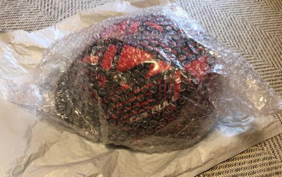 Wishで中国からCairbullのキッズヘルメットが届いた!簡易包装のプチプチのみ梱包だったけど、傷一つなく到着