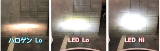 Wishで購入したC6LEDヘッドライトをハロゲンバルブと交換したビフォアアフター。Hi/Lo切り替え比較と取り付けレビュー