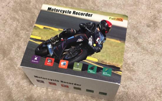 海外通販アプリのWishで購入した中国製バイク用ドライブレコーダーのパッケージ