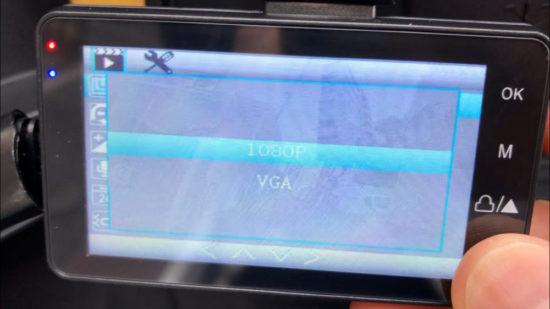 海外通販アプリのWishで購入したバイク用ドライブレコーダーの解像度設定は1080ppとVGAが選択できるけど、実際には720p