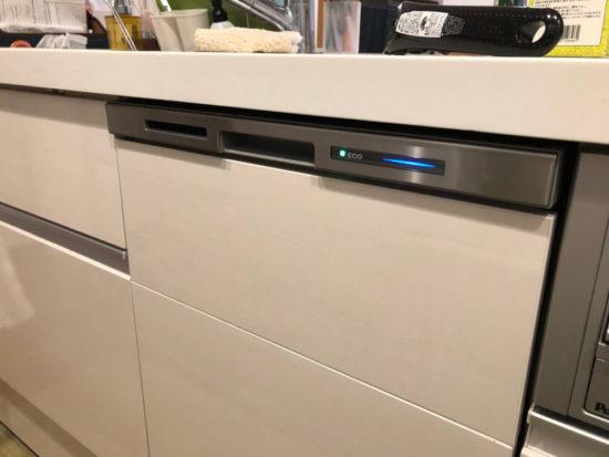 パナソニック製ディープタイプ食器洗い乾燥機NP-45MD7相当のLIXIL仕様の食洗機を試運転。ECONAVIではなくECO表記